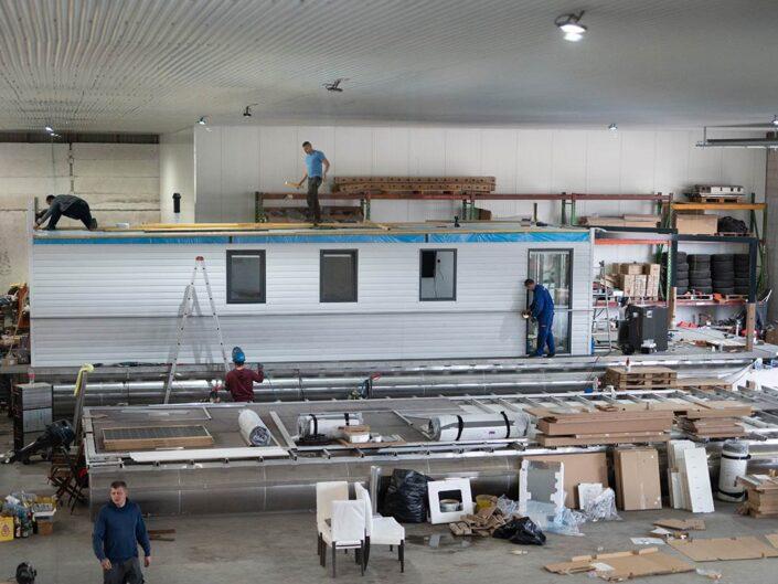 Hausboot Bau der vonAnker Hausboote - 1st Class Komfort und Langlebigkeit